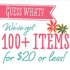WHAT?!!! Really?? 100+ items under $20??? You won't believe it until you see it!!