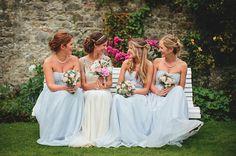 Pale Blue and Pretty Maids and an Elegant Jenny Packham 'Damask' Bride… | Love My Dress® UK Wedding Blog