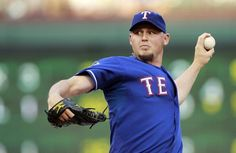 ARLINGTON, TX - APRIL 27: Matt Harrison #54 of the Texas Rangers delivers a pitch against the Tampa Bay Rays at Rangers Ballpark in Arlington on April 27, 2012 in Arlington, Texas. (Photo by Rick Yeatts/Getty Images) game 20