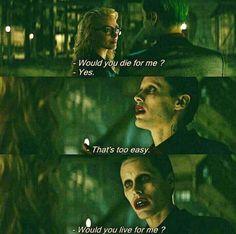 Joker and Harley Quinn Jared Leto Movies, Jared Leto Joker, Legion Movie, Harley And Joker Love, Arley Queen, Harey Quinn, Movie Lines, Joker Quotes, Raining Men