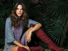 Alessandra Ambrosio Takes On Bohemian Style for Grazia Cover Story