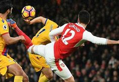 January 2 2017 - Olivier Giroud scores 'scorpion' goal as Arsenal beat Crystal Palace to go third in Premier League