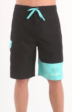 Mens Diamond Supply Co Boardshorts - Diamond Supply Co Blue Boardshorts