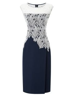 "<span itemprop=""name"">JACQUES VERT LEAF LACE CREPE DRESS</span>"
