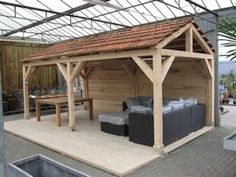 Voorbeeld van hoogte dak tuinhuis