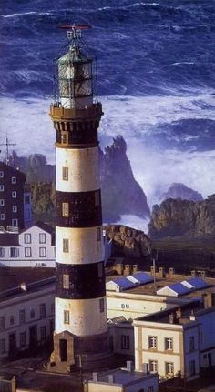 Creac'h Lighthouse, Ouessant Island, Brittany, France