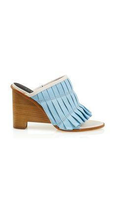 Tibi - Blue Nadine Mules - Lyst. Zapatos De ... 4e1b548e120ac