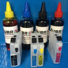 400ml LUBRINK INK   REFILLABLE CARTRIDGES BROTHER LC123 LC125 LC127 NON OEM