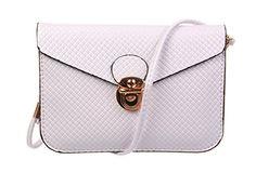 KISS GOLD Universal Umhängetasche Handytasche Schultertasche mit Handschlaufe, 17x2.5x12.5 cm Weiß