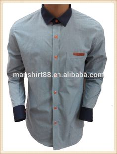 OEM embroidered button down classic check mens casual shirts ...