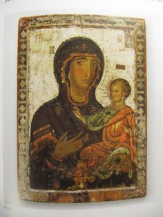 Cyprus exhibition, Louvre, 2013, Icon of the Virgin Hodighitria, 12thc, Nicosia, Byzantine Museum