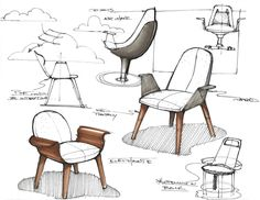 Design Furniture # Furniture sketch Design Furniture Sketches Inspiration - The Architects Diary Interior Design Sketches, Industrial Design Sketch, Sketch Design, Pop Design, Design Lab, Design Concepts, Diy Furniture Renovation, Furniture Design, Furniture Legs