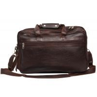 Comfort 17 inch Leather Brown Laptop Bag for men and women EL37