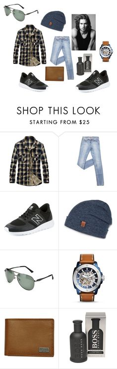 """Senza titolo #26"" by turrisilucia on Polyvore featuring Merrell, New Balance, Bickley + MItchell, FOSSIL, Rip Curl, BOSS Hugo Boss, men's fashion e menswear"