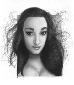 Incredible Pencil Portrait Photography of a Gorgeous Girl Gorgeous Girl, Most Beautiful, Pencil Portrait, Portrait Photography, Street Art, The Incredibles, Black And White, Black White, Gorgeous Women