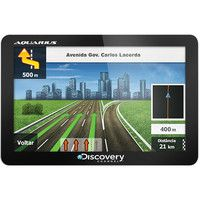 GPS Automotivo Aquarius Discovery Channel 4.3 ´ Slim Touch Screen