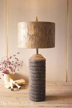 Farmhouse Table Lamps, Modern Farmhouse Table, Rustic Wooden Table, Wooden Table Lamps, Modern Rustic Homes, Rustic Lamps, Farmhouse Lighting, Rustic Farmhouse Decor, Rustic Lighting