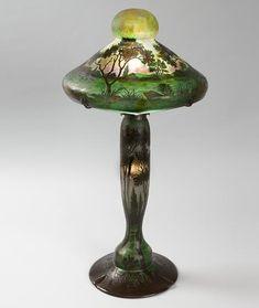 French glass art - Emile Galle  [French Art Nouveau Glassmaker, 1846-1904] Art Nouveau style vase LINK=>ARTICLE, MORE PHOTOS