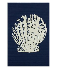 This Blue Seashell Indoor/Outdoor Rug is perfect! #zulilyfinds