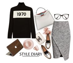 """Wednesday Style"" by harperleo ❤ liked on Polyvore featuring moda, Fendi, H&M, Bobbi Brown Cosmetics, Victoria Beckham, Real Simple, Bella Freud e Valentine Goods"