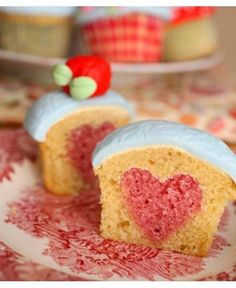 Heart Cupcakes via Made With Love By Me - 10 Valentine's Day recipes (because the way to anyone's heart is via their stomach!)