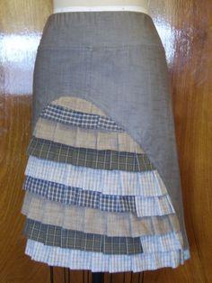 I like this idea - Spring forest ruffle skirt - http://piecesofyou.typepad.com/my_weblog/