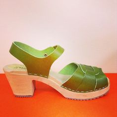Apple Green Peep Toe  Lotta From Stockholm