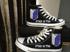 Attach on Titan Shoes Inspired from Attach on Titan Logos