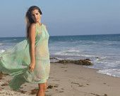 vintage pleated chiffon cover-up