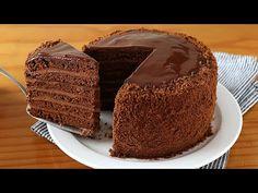 ¡Sin horno! Tarta de chocolate que se deshace en la boca - YouTube Yummy Treats, Delicious Desserts, Cooking Time, Cooking Recipes, Cake Recipes, Dessert Recipes, Sandwich Cake, Communion Cakes, Sweet Pie