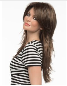 NEW!! - SHENNA from Alan Eaton at Envy Wigs - right on trend with the shag for Spring in Hair - this long LONG layered - very layered cut is pretty stunning .  You can cut a bang in .  I think that would make it even KEWLER - NOW at wowhair.ca - Canada's number source for hairpieces.