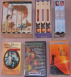 Fiddler on the Roof, Part I & II. Pride and Prejudice, Cassette I thru VI. Titanic, Cassette I & II. The Rose Rent. Lot of 4 VHS Tape Sets and 2 Individual Tapes. Total of 15 Tapes. All of the movies have slip cases. Vhs Cassette, Vhs Tapes, Action Bible, Movies For Sale, Roof Box, Bible Songs, Fiddler On The Roof, Vhs Movie, I Love Lucy