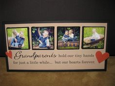 I have an arrangement of pics in progress of mine and Marcus' Grandparents ~ this would be the perfect saying for that arrangement.