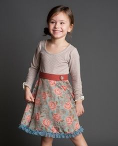 Matilda Jane - loving this long t-shirt with skirt attached with built in belt.