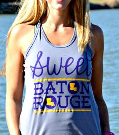 Sweet Baton Rouge™   Running Tank   Shop Football Tees. Perfect for any road race. Great for the Louisiana Marathon.