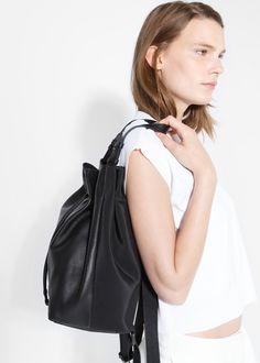 PREMIUM - Leather backpack #MANGOPremium