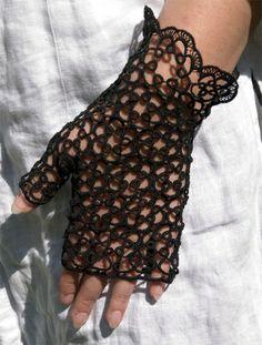 fingerless glove  [Halbhandschuhe, schwarz]