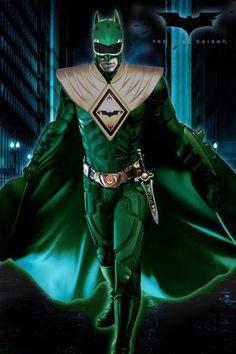 Green Ranger Batman  http://i382.photobucket.com/albums/oo261/8-2-B-4-9-5/Art/BatRanger.jpg