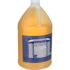 Dr. Bronner's Pure Castile Soap - Fair Trade And Organic - Liquid - 18 In 1 Hemp - Peppermint - 1 Gal