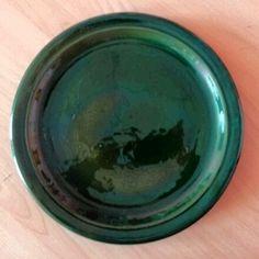 Тарелка 28 см зелёная глянец