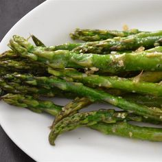 """Oven-Roasted Asparagus I """"Very delicious! The lemon at the end adds an excellent flavor. My 9 year old son even liked them!"""""""