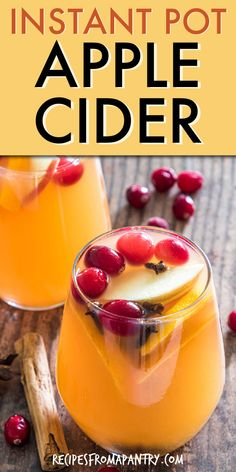 Instant Pot Apple Cider is full of amazing fall flavor! Sweet and fragrantly spiced, this apple cider drink recipe is easy to make, can be served warm or cold, Mulled Cider Recipe, Apple Cider Drink, Potted Beef Recipe, Best Instant Pot Recipe, Fall Recipes, Awesome, Amazing, Dessert Recipes, Thanksgiving