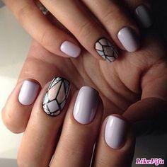 #маникюр, #маникюрлето2016, #дизайн_ногтей, #геометрический_узор_ногтей, #сиреневый_маникюр