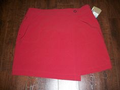 NWT COLUMBIA OMNI-SHIELD MIDTOWN MAVEN RED SKIRT, SZ 16. EXCELLENT CONDITION! #Columbia #SPORTY