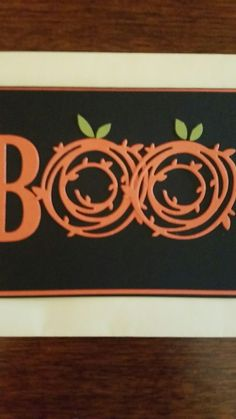 Happy Halloween! Stampin Up card, made with Swirly Bird's and SU letter framelits.