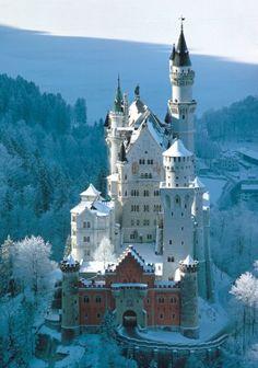 Chateau Neuschwanstein en hiver