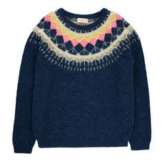 Pull Jacquard Nancy Bleu marine  Simple Kids