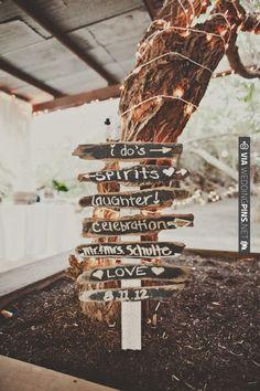 rustic wedding signs | VIA #WEDDINGPINS.NET
