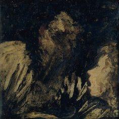 "Francisco Goya - ""Boy Staring at an Apparition"" ca. 1824-25"