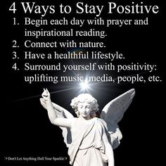 4 Ways to Stay Positive by Doreen Virtue.